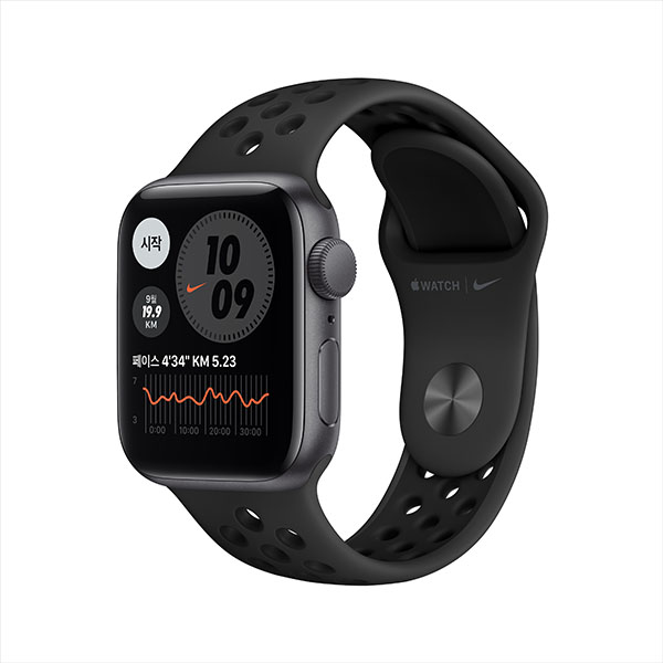 [apple]애플워치 나이키 SE GPS, 40mm 스페이스 그레이 알루미늄 케이스