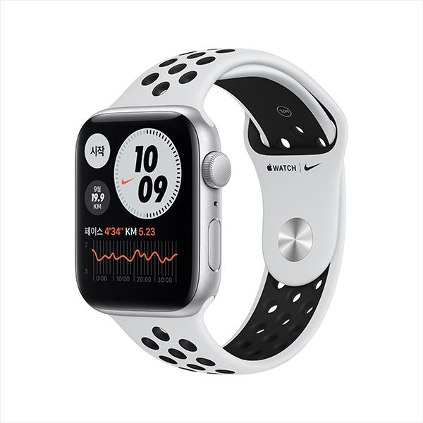 [apple]애플워치 나이키 SE GPS, 44mm 실버 알루미늄 케이스