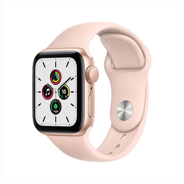 [Apple] 애플워치 SE GPS, 40mm 골드 알루미늄 케이스 & 핑크 샌드 스포츠 밴드 - MYDN2KH/A