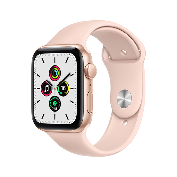 [Apple] 애플워치 SE GPS, 44mm 골드 알루미늄 케이스 & 핑크 샌드 스포츠 밴드 - MYDR2KH/A